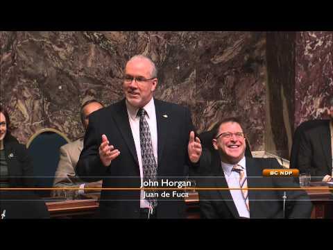 John Horgan introduces Ellie Horgan