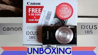 Canon IXUS 185 digital camera-unboxing