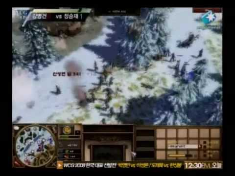 WCG 2008 한국대표선발전 Age of Empires 김병건 vs 정승재