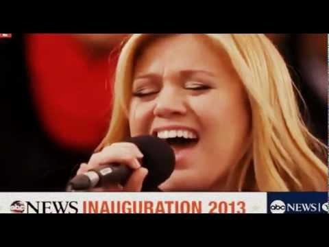 Kelly Clarkson Inauguration Obama My Country Tis Of Thee - 2013 - US President - VJayPix