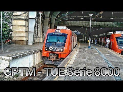CPTM - TUE Série 8000 Partindo da Estação Júlio Prestes