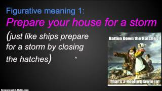 Batten down the Hatches (Sailing Idioms for Advanced Learners Part I)