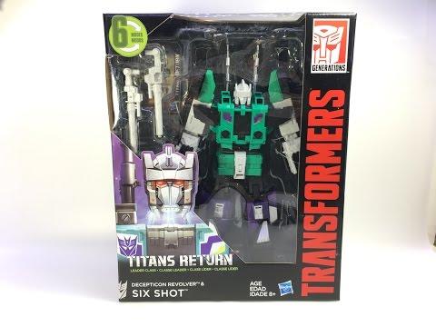 Transformers: Titans Return - Leader Class SIXSHOT w/ Revolver