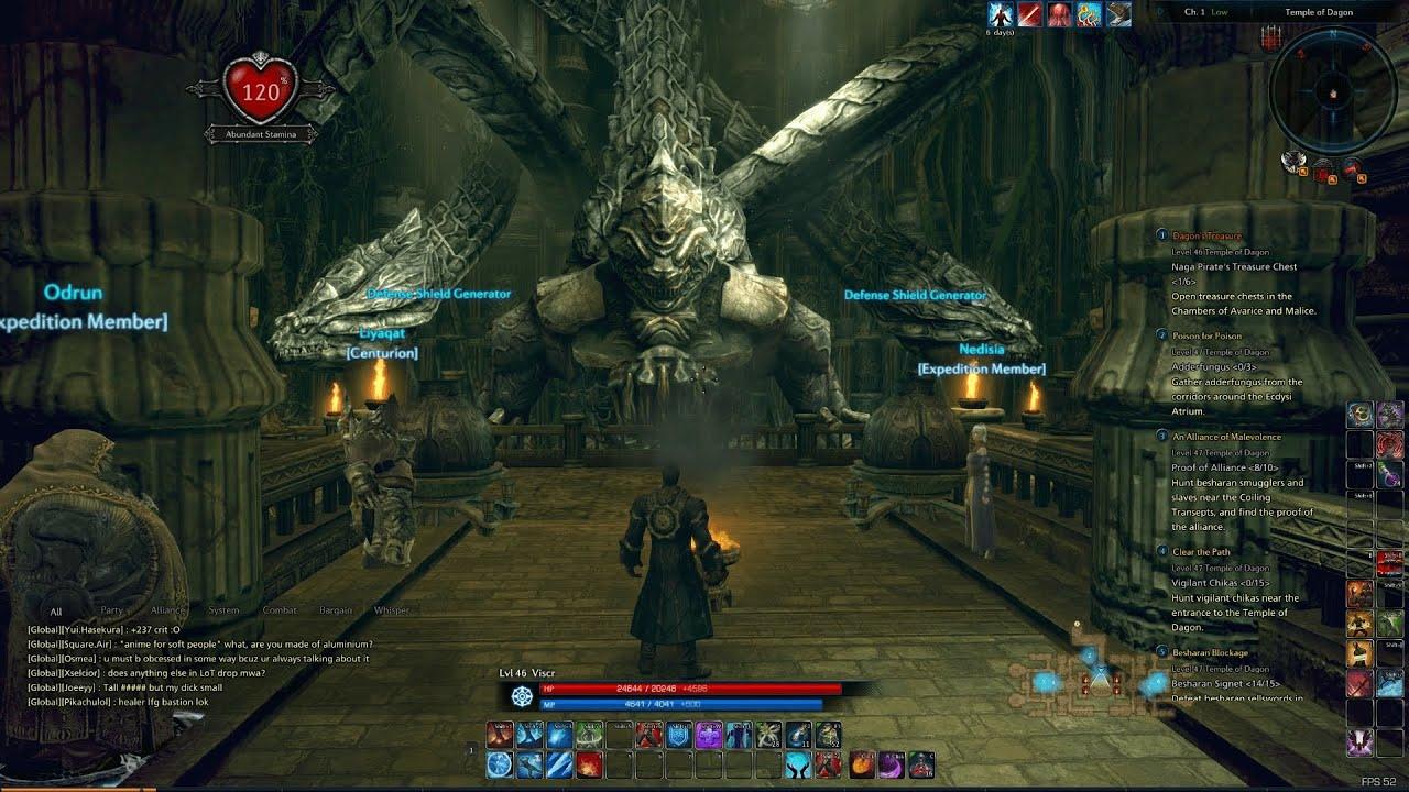 TERA Dagons Treasure Lvl 46 Temple Of Dagon YouTube