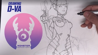 Drawing D-Va from Overwatch ;)