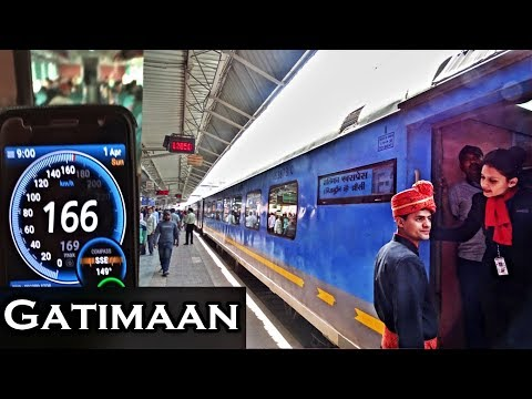 """160 kmph Journey in India's Fastest Train: First Time Ever """"Gatimaan Exp"""" on a Beautiful New Route"""