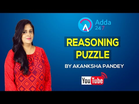 Reasoning Puzzle for Bank PO, Clerk, SBI, IBPS, RBI Exams