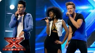 Dynamix Sing Let S Get It Started By Black Eyed Peas Arena Auditions Week 4 The X Factor 2013