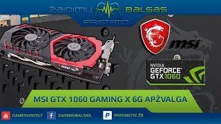MSI GTX 1060 GAMING X 6G Apžvalga