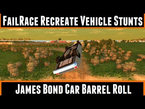FailRace Recreate Vehicle Stunts James Bond Car Barrel Roll (BeamNG Drive)