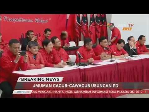 PDI-P Umumkan  Bakal Cagub-Cawagub DKI Jakarta