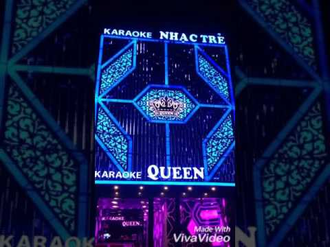 Biển nền alu, gắn Led, chữ nổi mica _Quán Karaoke siêu đẹp