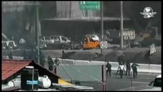 IMAGENES DEL ENFRENTAMIENTO DE ESTUDIANTES NORMALISTAS Y POLICIAS