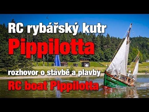 RC rybářský kutr Pippilotta - rozhovor o stavbě a plavby / RC boat cutter Pippilotta