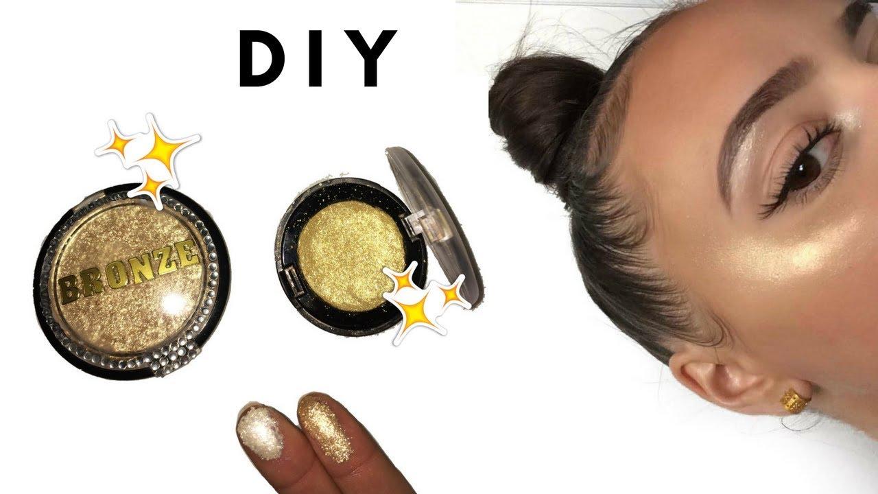 diy highlighter cr me et poudre maquillage naturel fait maison shantiglam youtube. Black Bedroom Furniture Sets. Home Design Ideas