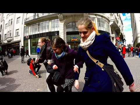 Silly Walk Day Flashmob Hungary 2015