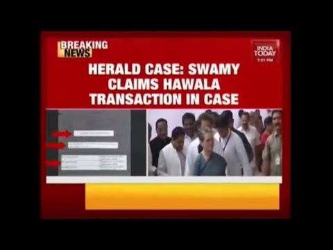 Subramanian Swamy Claims Hawala Transactions In National Herald Case