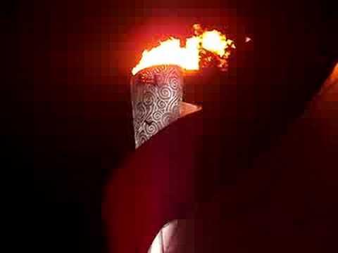 torch lighting opening ceremonies beijing 2008 youtube