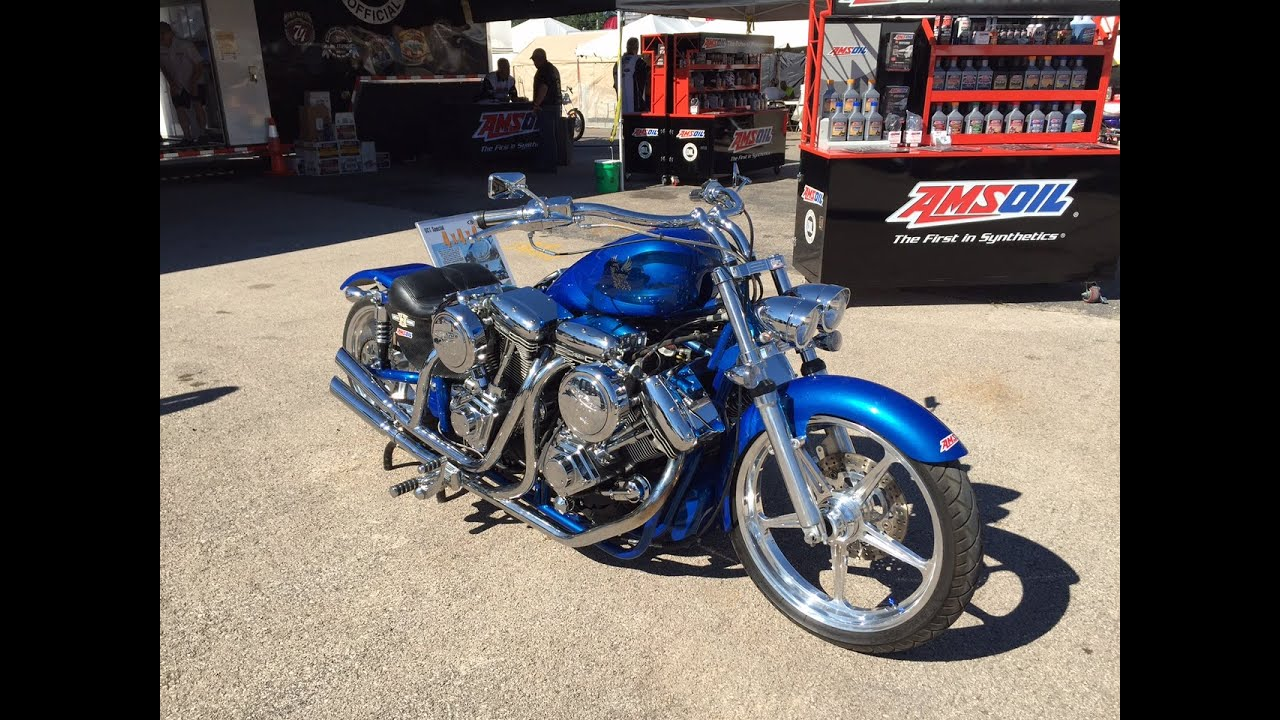 Sturgis Motorcycle Rally Double Trouble Hot Rod The Four Engine Chopper
