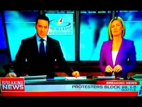 Protesters Interrupt Live News Broadcast in Seattle!