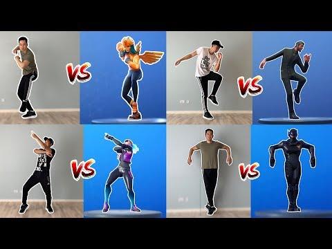 Fortnite Dances In Real Life - Season 1-10 (Scenario, Slick, Infectious, Jaywalk and many more!)