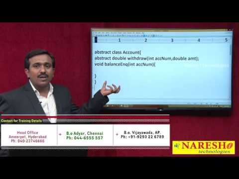 abstract-class-and-abstract-methods- -java-tutorial by-mr.satish.b