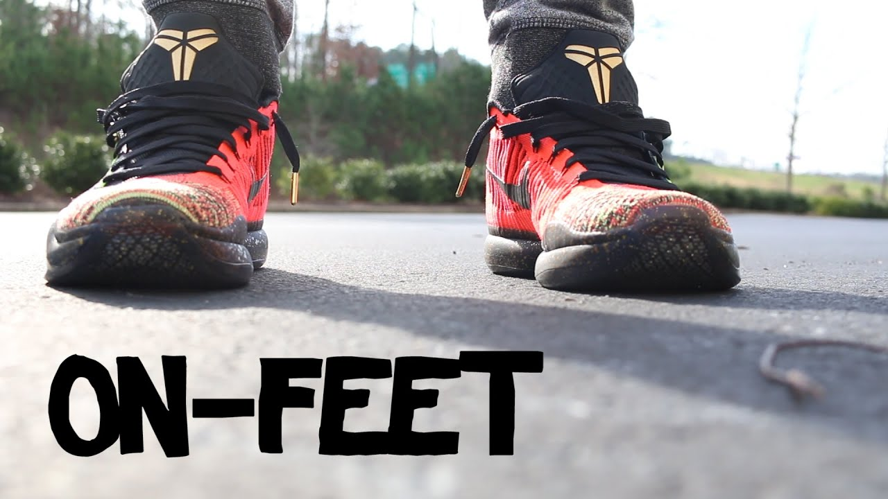Kobe 10 Elite Low 5 Rings (Christmas) On-feet - YouTube