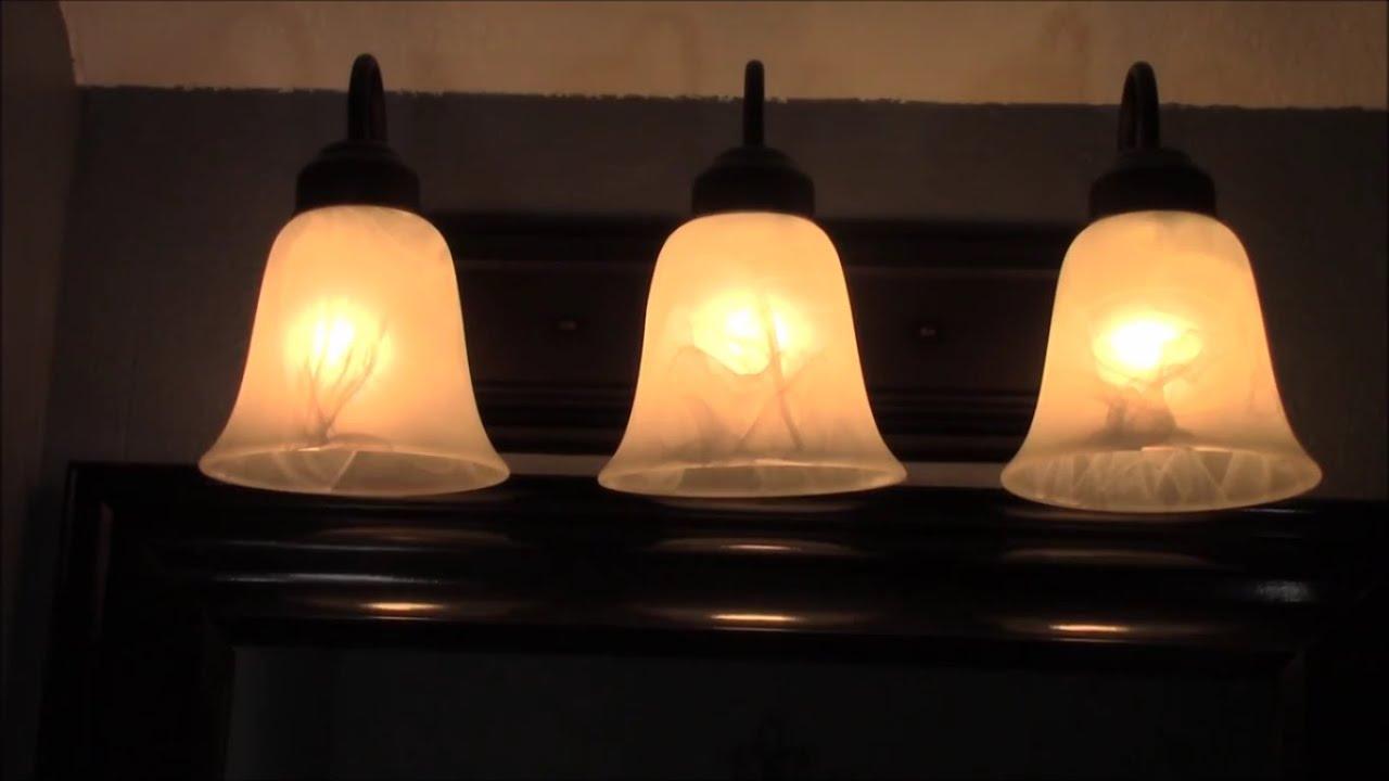 hight resolution of bathroom vanity light hampton oil rubbed bronze 1462 113 unbox and full installation