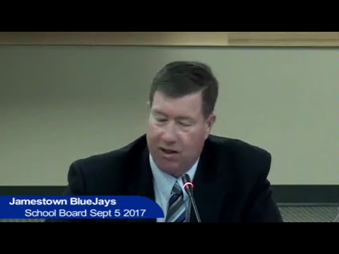 Jamestown Public Schools Board Meeting Sept 5 2017