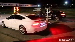 Audi A7 3.0 TDi(313 HP) vs BMW X6 3.5d Drag Race