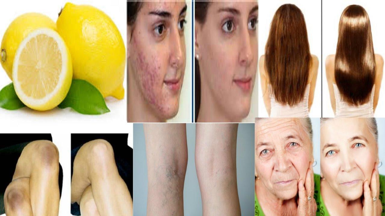 jus citron peau visage