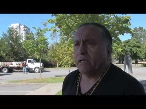 Jewell James speaks before Vancouver Blessing (Totem Pole Journey - Aug 24th, 2016)