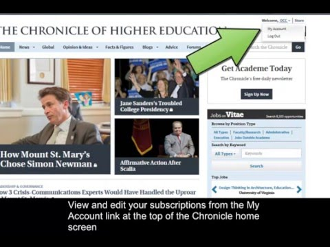 Chronicle of Higher Ed - RSS Feeds & E-Newsletters