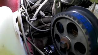 Замена ремня грм 8-ми клапанный 1.6l мотор!