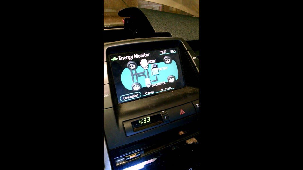 prius parking brake dash lights