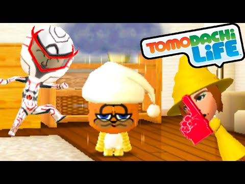 Tomodachi Life 3DS Love Connections, Garfield's Adventure Gameplay Walkthrough PART 45 Nintendo