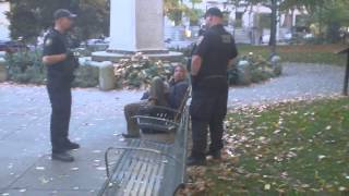 UCARE Portland Transit Cop In Park Intimidation FAIL!!!