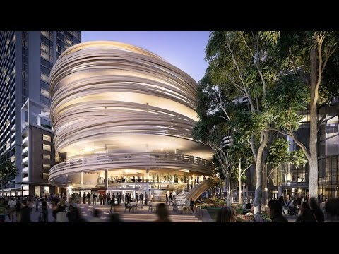 Kengo Kuma reveals plans for curving timber-wrapped tower in Sydney