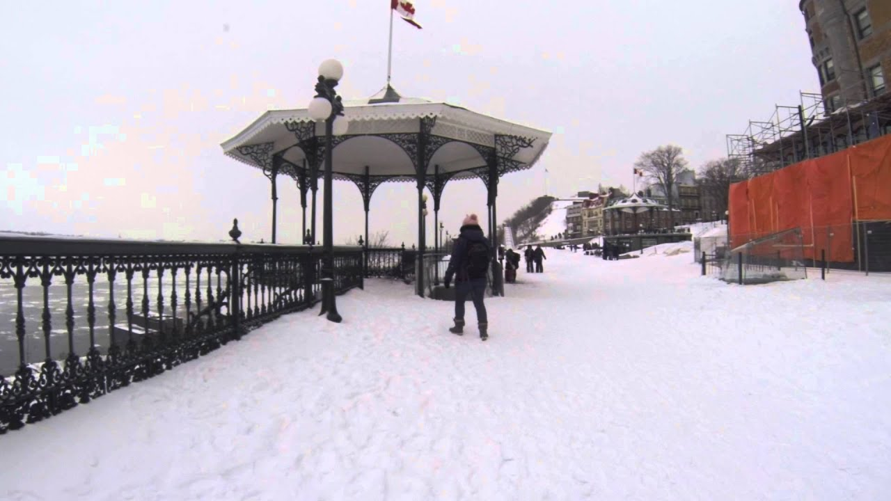 Visite Sous La Terrasse Dufferin : Qu u00e9bec sous la neige GoPro YouTube