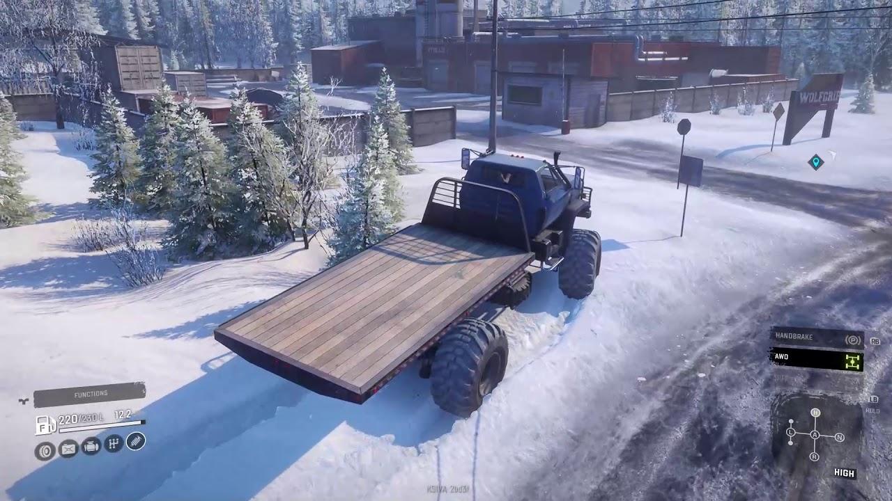 Snowrunner Mod Review Chevrolet Kodiak Hauler Mod The Ultimate