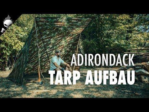 Tarp Aufbau: Lean-To-Hut – Tarp Aufbauvariante und Tarp Setup für Bushcraft, Outdoor, Survival
