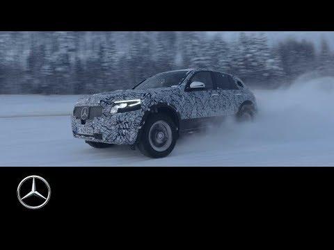 Mercedes-Benz EQC im Wintertest bei -35°C auf schwedischen Eispisten