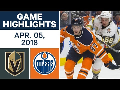 NHL Game Highlights | Golden Knights vs. Oilers - Apr. 05, 2018