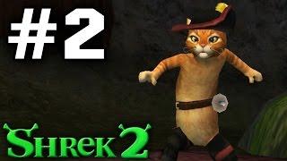 Прохождение Шрек 2 The Game - Часть 2 - Кот в сапогах.