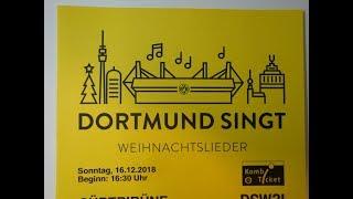 Dortmund singt Weihnachtslieder 2018 - Singen im Stadion - BVB-Fans singen Weihnachtslieder
