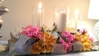 Centerpiece idea DIY Tutorial -  EASY and inexpensive!