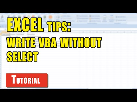 Excel Tips: How to avoid using Select in Excel VBA macros
