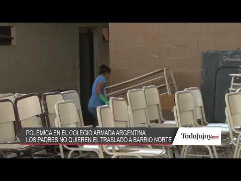 Padres del Colegio Armada Argentina rechazan el traslado a barrio Norte