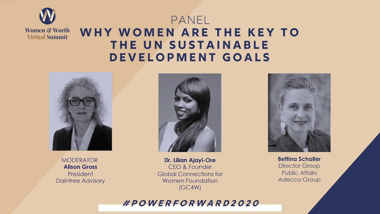 Why Women are the key to the Sustainable Development Goals (SDG's)