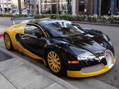 bijan 39 s custom yellow black bugatti veyron in beverly hills youtube. Black Bedroom Furniture Sets. Home Design Ideas